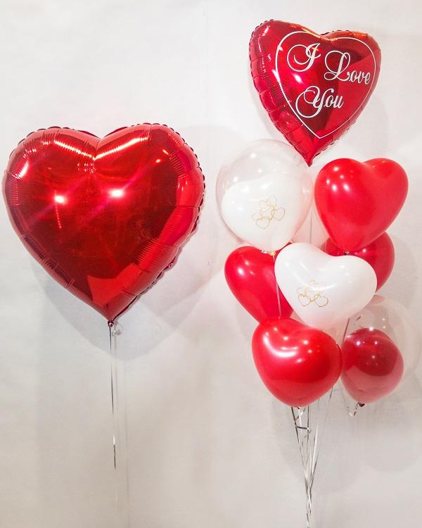 Композиция из воздушных шаров I love you
