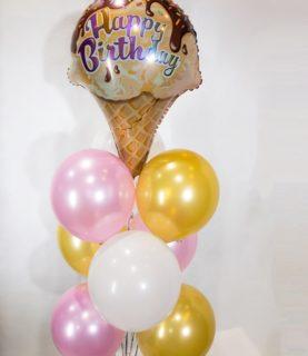 Фонтан из воздушных шаров для сластён