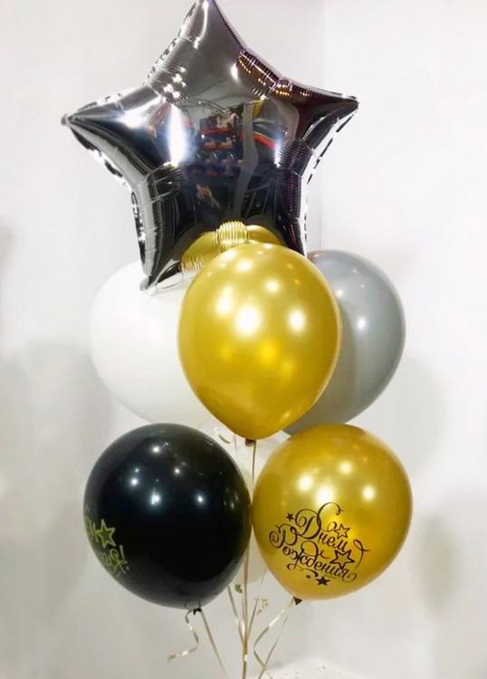 Фонтан из воздушных шаров Поздравительный