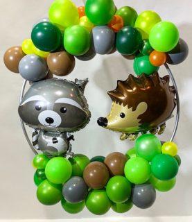 Композиция из воздушных шаров для фотозоны Лесные друзья