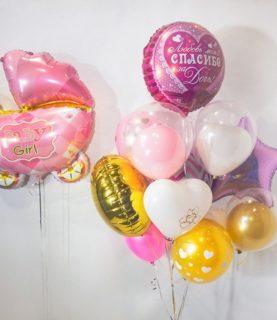 Композиция из воздушных шаров Добро пожаловать в мир Малышка