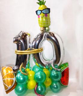 Композиция из воздушных шаров Фруктовая