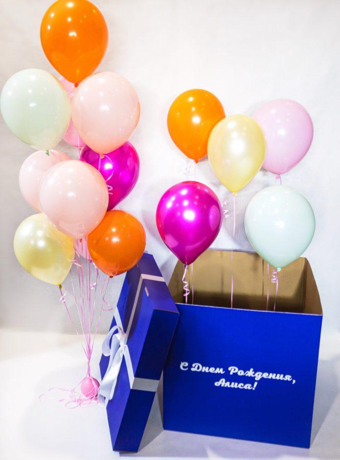 Коробка-сюрприз + фонтан