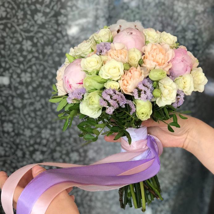 Букет невесты Пудра