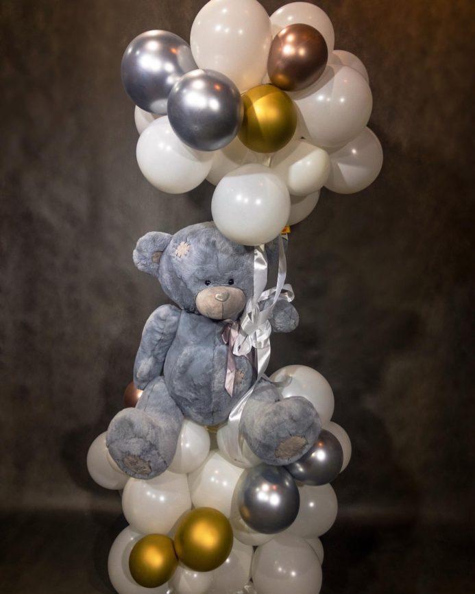 Мишка в облаках Плюшевый мишка на стойке