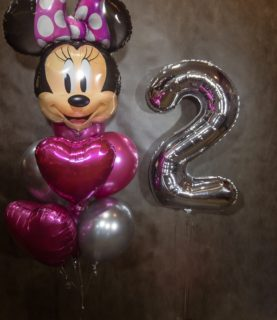 Шар Minnie Mouse, цифра, фонтан