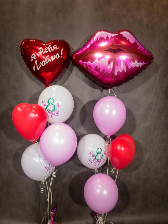 Сет с 8 марта Красные губы