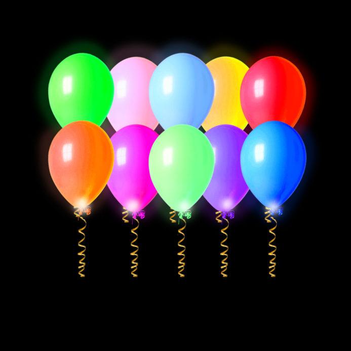 Светящиеся шары — 7000 рублей (50 штук)