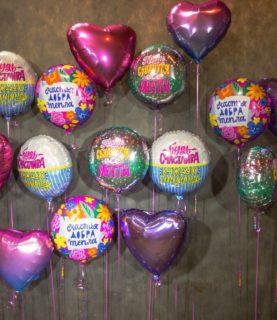 Фольгированные шары с надписями