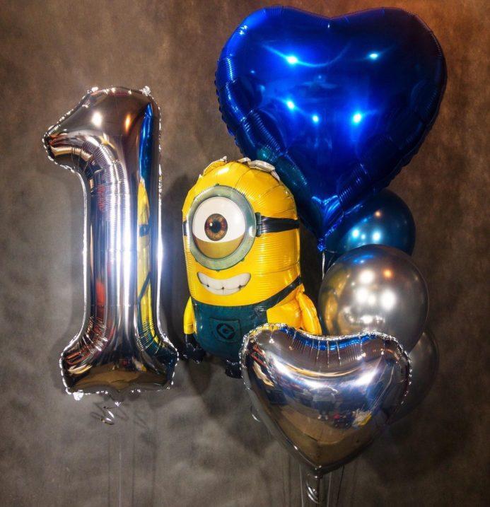 Набор воздушных шаров на 1 годик