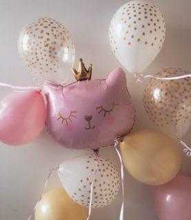 Композиция из воздушных шаров принцесса-кошечка