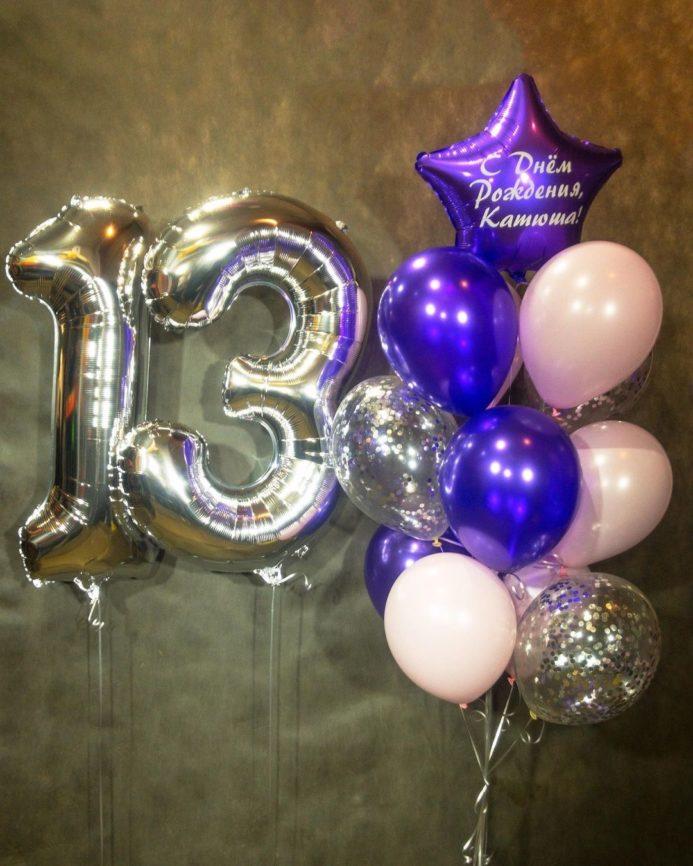Фонтан из шаров на День рождения 13 лет