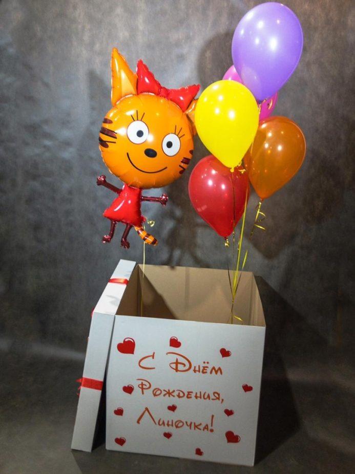 Коробка-сюрприз с Карамелькой
