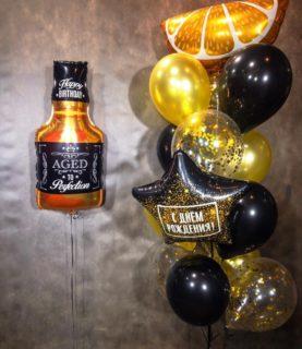 Фонтан из воздушных шаров Виски
