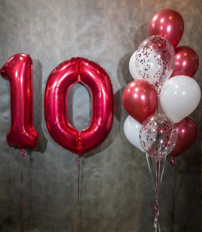Воздушные шары на десятилетие