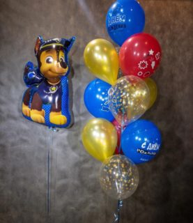 Фонтан из воздушных шаров Щенячий патруль