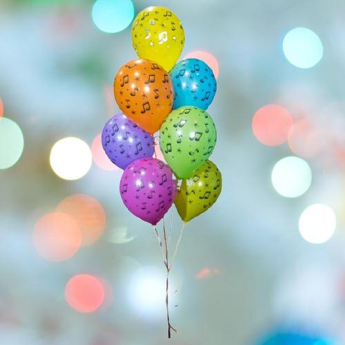 Фонтан из воздушных шаров Звуки музыки