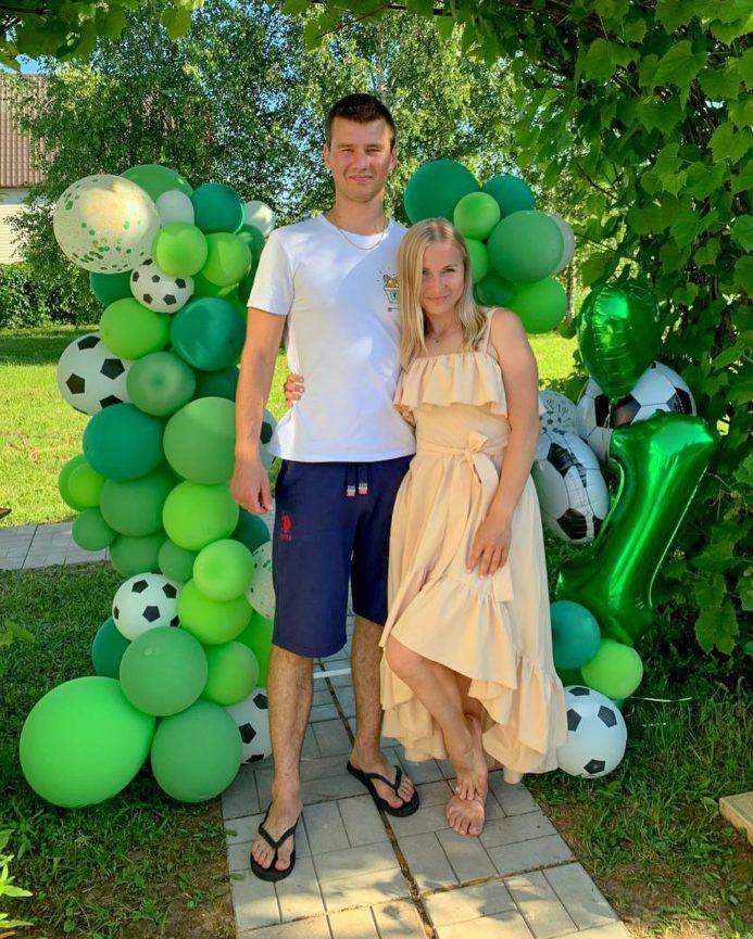 Футбольная фотозона из шариков на 1 год