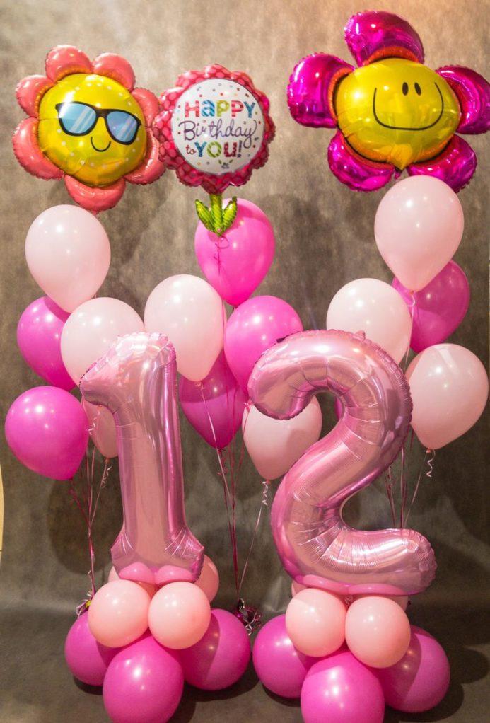 12 лет - композиция из воздушных шаров