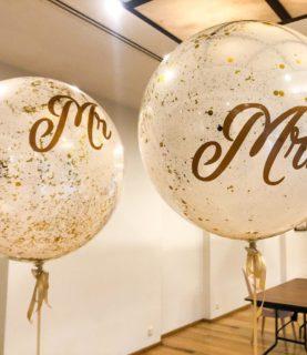 Свадебные шары баблс Mr и Mrs
