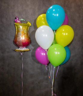 Фонтан из воздушных шаров Коктейль
