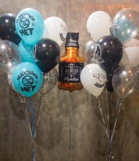 Фонтан из воздушных шаров на День рождения начальника