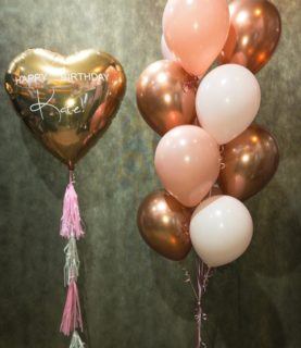 Фонтан из воздушных шаров С Днём рождения, Катя