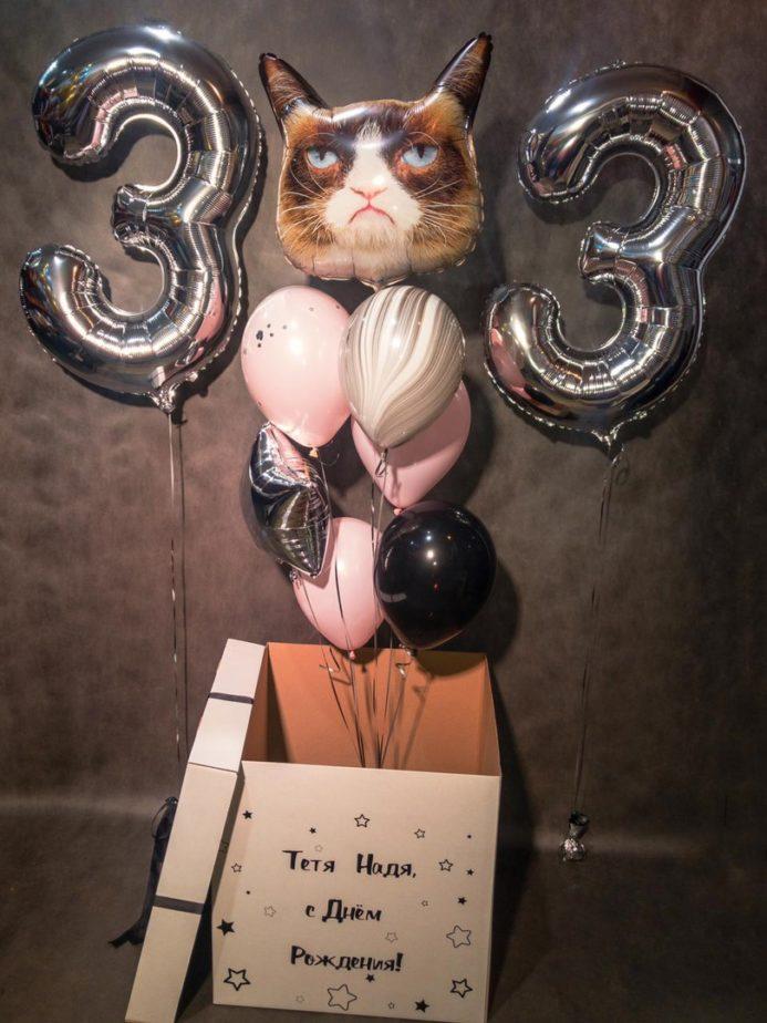 Фонтан из шаров Грампи Кэт в коробке