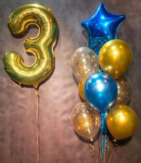 Фонтан из воздушных шаров на 3 года