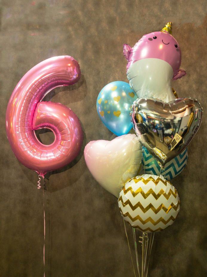 Фонтан из воздушных шаров на 6 лет